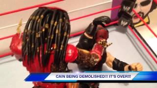 GTS WRESTLING: Loser belt title match! Kane vs Predator WWE parody figure matches animation motion