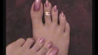 getlinkyoutube.com-Metallic Pink Toenails