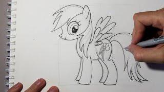 getlinkyoutube.com-Wie zeichnet man Rainbow Dash aus My Little Pony