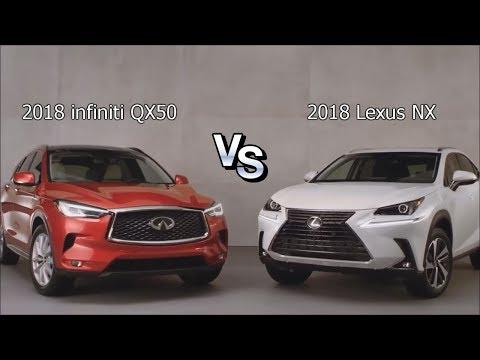 Сравнение двух роскошных кроссоверов infiniti QX50 (2018) vs Lexus NX (2018)