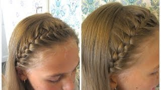 getlinkyoutube.com-DIY French braided headband - HairAndNailsInspiration