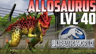getlinkyoutube.com-Allosaurus - Jurassic World The Game - Level 40