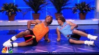 getlinkyoutube.com-Jimmy Fallon & Dwayne Johnson's Workout Videos