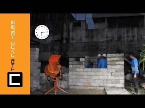 การสร้างบ้านด้วยอิฐบล็อค นาโน