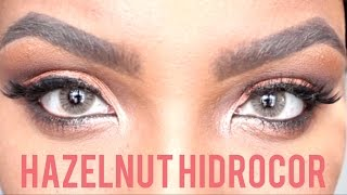 getlinkyoutube.com-Unboxing Solotica Hazelnut Avela & MEL vs HZAELNUT Contacts Hidrocor
