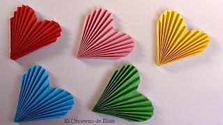 getlinkyoutube.com-DIY, Decora tu Habitación con Corazones de Papel, Manualidades para San Valentín
