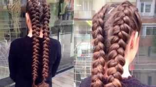 getlinkyoutube.com-White Hair Szalon - Modern két copfos parketta fonat - Haj tippek lépésről lépésre