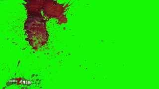 Green screen more blood splatter