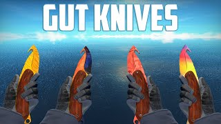getlinkyoutube.com-CS:GO - Gut Knives - All Skins Showcase + Price | Все Скины Gut Knives + Цены