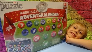 getlinkyoutube.com-BUNDESLIGA ADVENTSKALENDER / PUZZLE 3D RAVENSBURGER