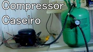 getlinkyoutube.com-Como fazer um Compressor Caseiro com Motor de Geladeira