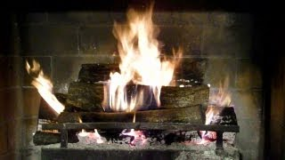 getlinkyoutube.com-Great natural fireplace video with crackling sounds.