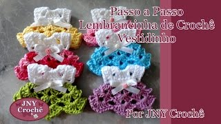getlinkyoutube.com-Passo a Passo Lembrancinha de Crochê Vestidinho por JNY Crochê