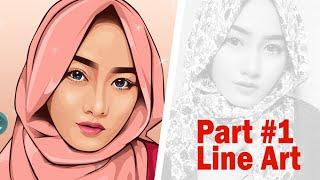 getlinkyoutube.com-Vector Vexel Portrait Tutorial | Part #1 Line Art