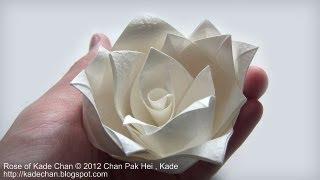 getlinkyoutube.com-How to fold Origami Rose of Kade Chan 摺紙玫瑰花教學 ( Kade Chan )