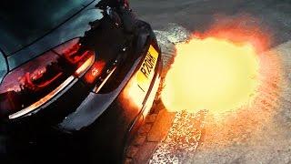 getlinkyoutube.com-VW Golf R shooting LOUD FLAMES!