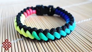 getlinkyoutube.com-How to Make a Rainbow Curling Millipede Paracord Bracelet Tutorial