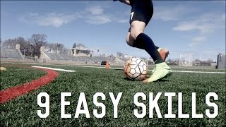 9 Easy Skill Moves To Beat Defenders | Dribbling Skills Tutorial For Footballers/Soccer Players