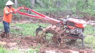 getlinkyoutube.com-Two Wheel Tractor Quick Kubota RD85 Working Hard