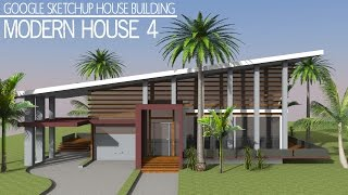 Google Sketchup Speed Building - Modern House 4