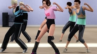 getlinkyoutube.com-Sims 3 - Dance animations MMD (Turn up the love - far east movement)