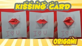 getlinkyoutube.com-Valentine's day - DIY Origami kissing lips & Secret Message - Pop up Card