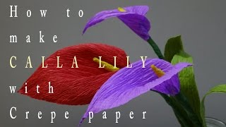 getlinkyoutube.com-DIY: How to make Calla Lilly with Crepe paper