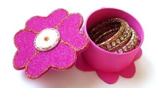 getlinkyoutube.com-DIY : Flower Jewelry Box | Gift Box - Recycling Cardboard