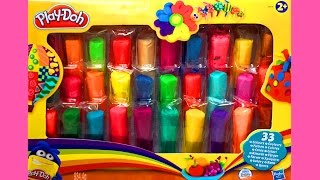 getlinkyoutube.com-Play-Doh Ultimate Rainbow Pack Learn Numbers Play Doh Mountain of Colours Playset Toy Videos