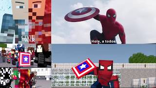 getlinkyoutube.com-Minecraft Captain America Civil War side by side comparison sub Español
