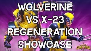 Wolverine VS X-23 - Regeneration Showcase + Comparison - Marvel Contest Of Champions