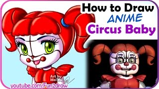 getlinkyoutube.com-How to Draw a Circus Baby - Five Nights at Freddy's: Sister Location