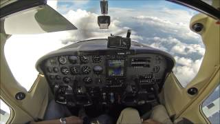getlinkyoutube.com-Cessna Skylane at 19,000ft - cockpit video - must see!