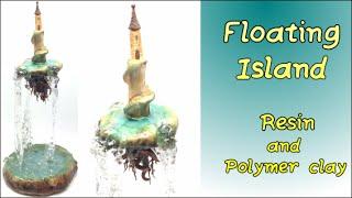 getlinkyoutube.com-Floating Island- Polymer clay and resin tutorial