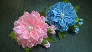 getlinkyoutube.com-D.I.Y. Satin Kanzashi Flower - Tutorial | MyInDulzens