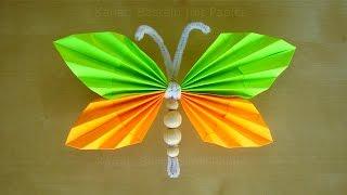 getlinkyoutube.com-Schmetterlinge basteln mit Papier - Tiere basteln mit Kindern - Basteln Ideen - DIY