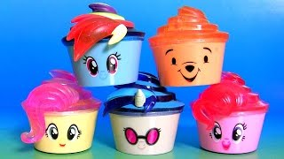 getlinkyoutube.com-Cupcake Surprise MLP Toys Pinkie Pie, DJ PON-3, Minnie Mouse, Disney Princess Cupcakes Surprise
