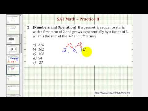 SAT Math (Number and Operations) - Practice 2.2