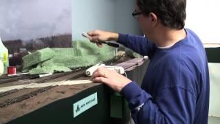 getlinkyoutube.com-Building terrain with florist foam | Model railroad scenery how-to | Model Railroad Hobbyist