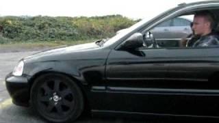 getlinkyoutube.com-Stock B16 Turbo Civic E85 VS STI