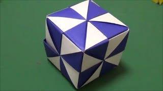 """「ミラーキューブ」折り紙""""Mirror cube""""origami"""