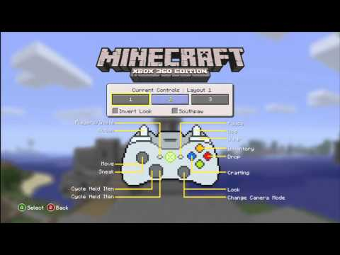 Minecraft on Xbox 360 | Main Menu Interface guide (1600 MS Points)