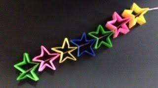 getlinkyoutube.com-簡単 おりがみ クリスマス 七夕飾り ⑪ ほしつづり origami Xmas
