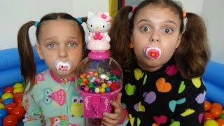 getlinkyoutube.com-Bad Baby Victoria Gumball Magic Pool In House Annabelle Toy Freaks Daddy