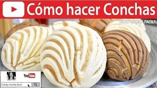 getlinkyoutube.com-CÓMO HACER CONCHAS | Vicky Receta Facil