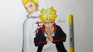 getlinkyoutube.com-Speed Drawing Naruto & Boruto Uzumaki (HD)