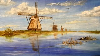 Windmills of Holland, Collaboration, Acrylic painting