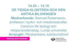 Forskartorget2016 - De tidiga klostren och den antika bildningen
