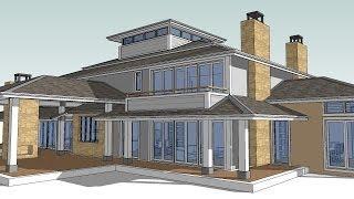 getlinkyoutube.com-Hip House Tutorial. How to make a hip roof using SketchUp and TreblD