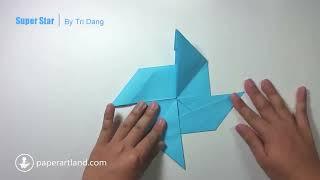 getlinkyoutube.com-Origami for Kids: How to make a COOL Paper Shuriken | Super Star